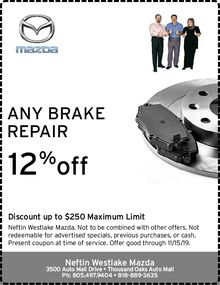 12% OFF ANY BRAKE REPAIR