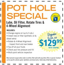 $129.99 Pot Hole Special
