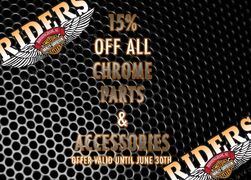 15% OFF Chrome Parts & Accessories