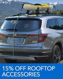 15% OFF Rooftop Accessories - Honda