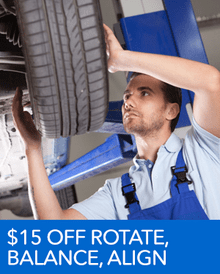 $15 OFF Tire Rotate, Balance, and Alignment - Honda