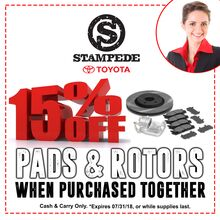 15% Off Pads & Rotors