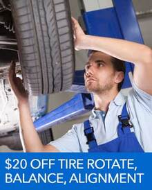 $20 OFF Tire Rotate, Balance, and Alignment - Honda