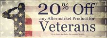 20% Off Veterans