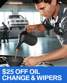 $25 OFF Oil Change & Wiper Replacement - BMW