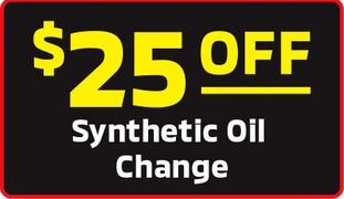 $25.00 Off Synthetic Oil Change Special