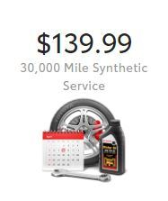 30,000 Mile Synthetic Service
