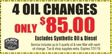 4 Oil Changes