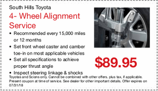 4-Wheel Alignment $89.95