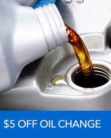 $5 OFF Oil Change - Honda