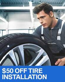 $50 OFF Installation of 4 New Tires - BMW