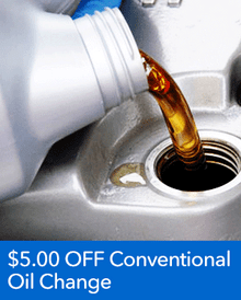 $5.00 OFF Conventional Oil Change - Honda