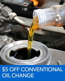 $5.00 OFF Conventional Oil Change – Honda