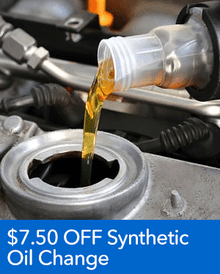 $7.50 OFF Synthetic Oil - Honda