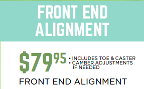 $79.95 Front End Alignment