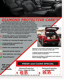 $99.95 Diamond Protective Care + Cabin Air Filter