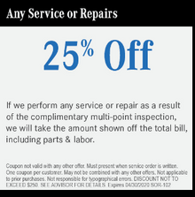 Any Service or Repairs