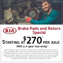 Brake Pads and Rotors Special