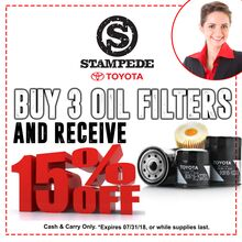 Buy 3 Oil Filters and Receive