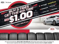 Buy 3 Tires Get the 4th Tire for $1.00