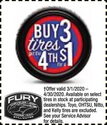 Buy 3 tires get a 4th for $1