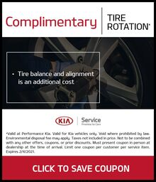 COMPLIMENTARY TIRE ROTATION