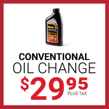 Conventional Oil Change for $29.95