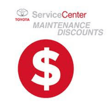 DISCOUNT ON TOYOTA MAINTENANCE MENU SERVICES