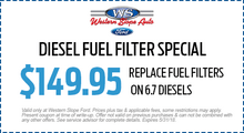 Diesel Fuel Filter Special