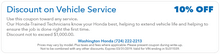 Discount on Vehicle Service  10% Off