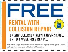 FREE Rental with Collision Repair