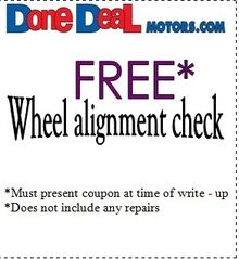 FREE Wheel Alignment Check