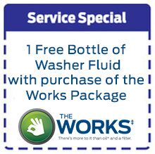 Free Washer Fluid with Works Package