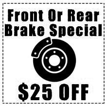 Front Or Rear Brake Special $25 OFF