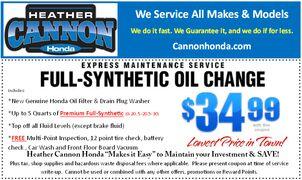 Full Syntetic Oil Change