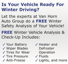 IS YOUR VEHICLE READY FOR WINTER DRIVING?