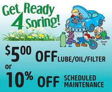 Lube Oil & Filter OR 10% Scheduled Maintenance