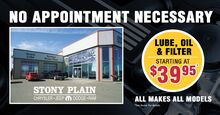Lube, Oil, & Filter starting at $39.95