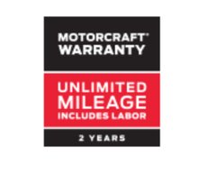 MOTORCRAFT® WARRANTY: TWO YEARS. UNLIMITED MILEAGE.