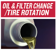 OIL & FILTER CHANGE/TIRE ROTATION
