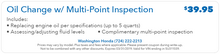 Oil Change w/ Multi-Point Inspection    $39.95