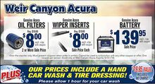 Oil Filters, Wiper Inserts and Battery Specials