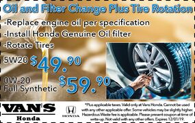 Oil and Filter Change Plus Tire Rotation