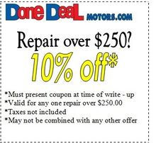 Repair over $250? 10% Off