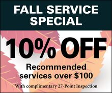 Save 10% - Fall Service Special