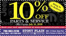 Save 10% off parts and service in July!