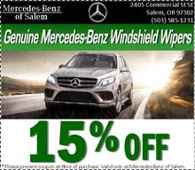 Save 15% Off Genuine Mercedes-Benz Windshield Wipers