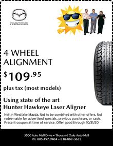 September '20 4-Wheel Alignment