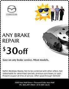 September '20 Brake Repair Special Offer