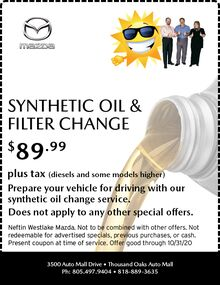 September '20 Synthetic Oil & Filter Change